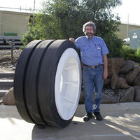 50t Chock Trailer Wheel