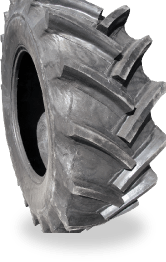 Relugged tractor tyre